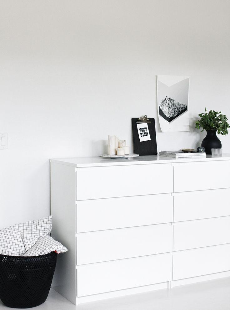 How to incorporate ikea malm dresser into your decor bedroom deco chambre maison ikea d co - Ikea chambre malm ...