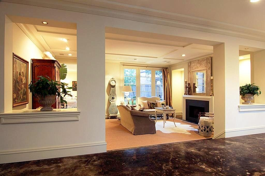 Similar Living Room Layout In My Home Except No Fireplace. Interesting  Seating Arrangement.
