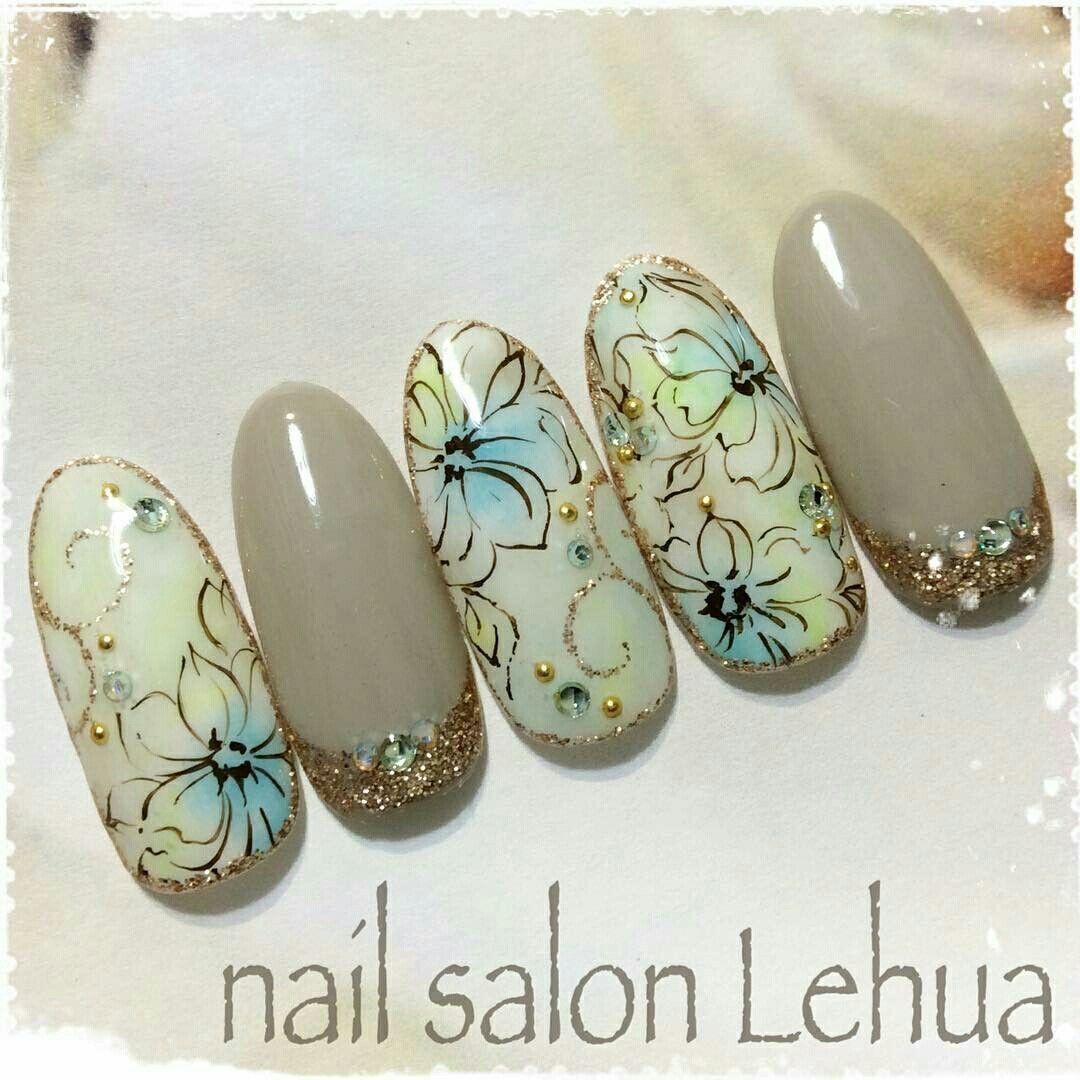 Pin de Jelena Nenad Trumbetas en Nails | Pinterest | Flores en uñas ...