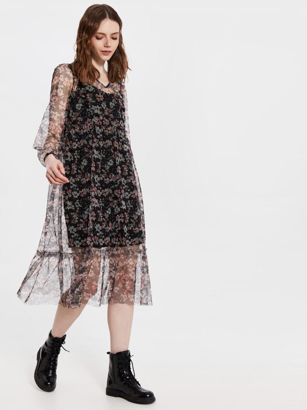 Siyah Cicek Desenli Sifon Elbise Lc Waikiki In 2020 Fashion Flapper Dress Dresses