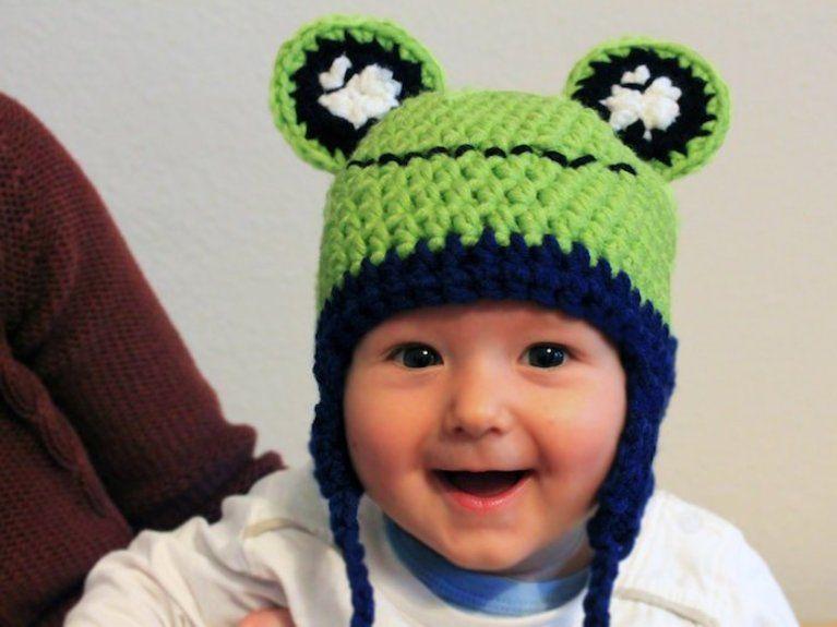 Tutoriel DIY Crocheter un bonnet grenouille pour bébé via DaWanda.com