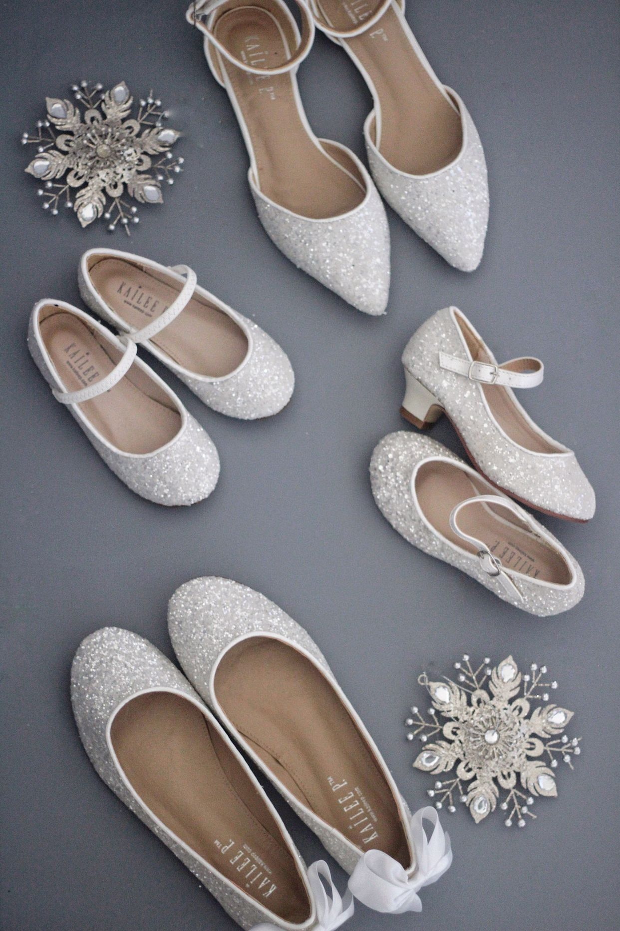 06fc98a040b9 White rock glitter flats for women and kids. Perfect for mommy   me sparkles  to wear at any event.