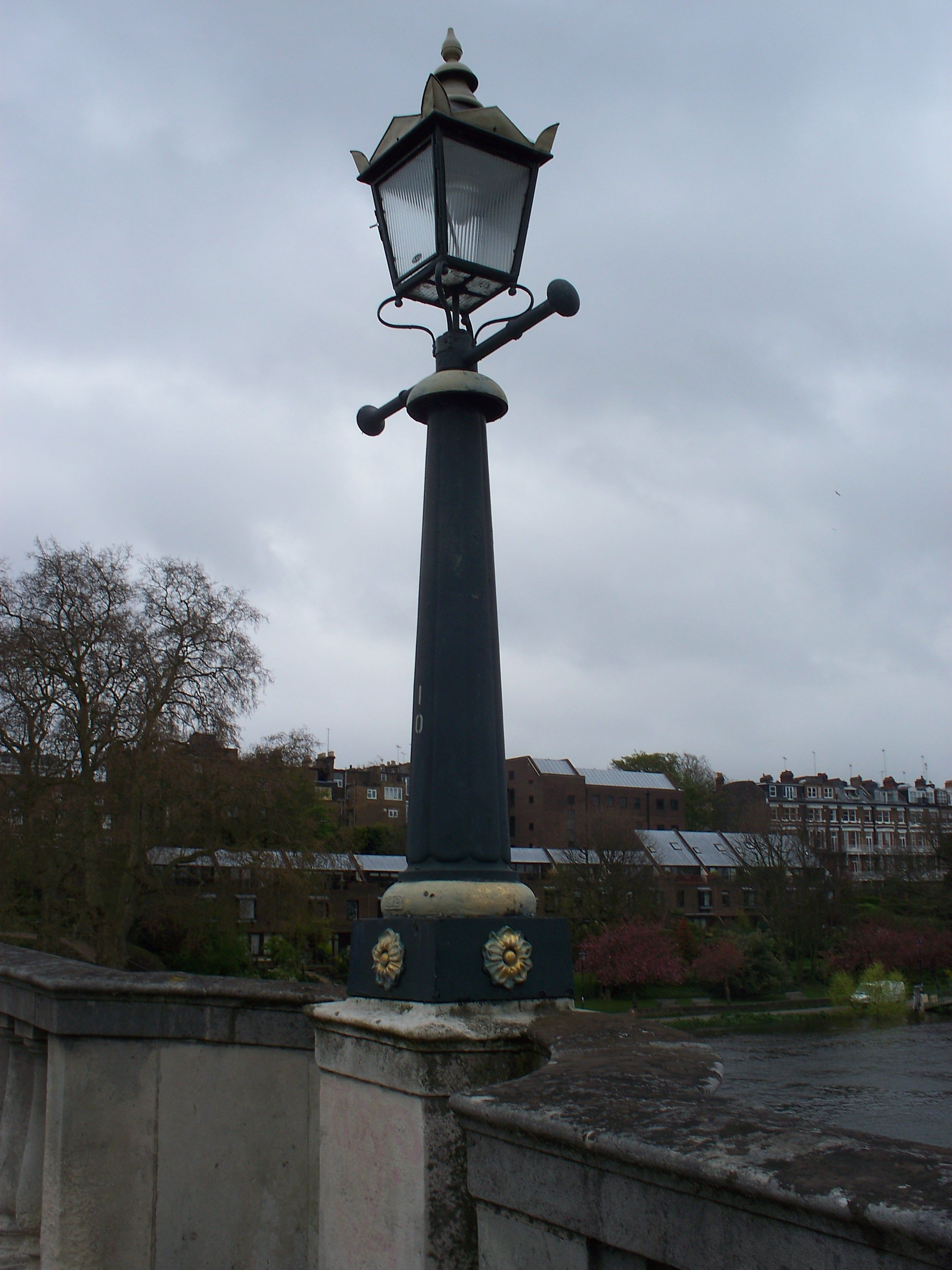 Great Richmond Bridge Victorian Gas Lamp Post On Richmond Bridge