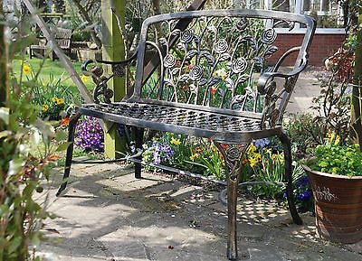 #Metal #garden #bench cast aluminium  ... new #garden furniture rose #bench,  View more on the LINK: 	http://www.zeppy.io/product/gb/2/331718807791/