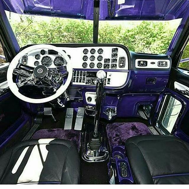 Peterbilt custom 379 interior inside semi insane - Peterbilt 379 interior accessories ...