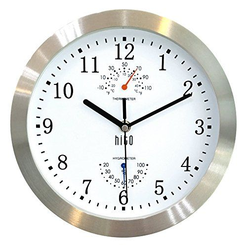 Hito Silent Non Ticking Wall Clock Metal Frame Glass Cover 10 Inches Final Call For This Special Discount Metal Wall Clock Wall Clock Silent Wall Clock
