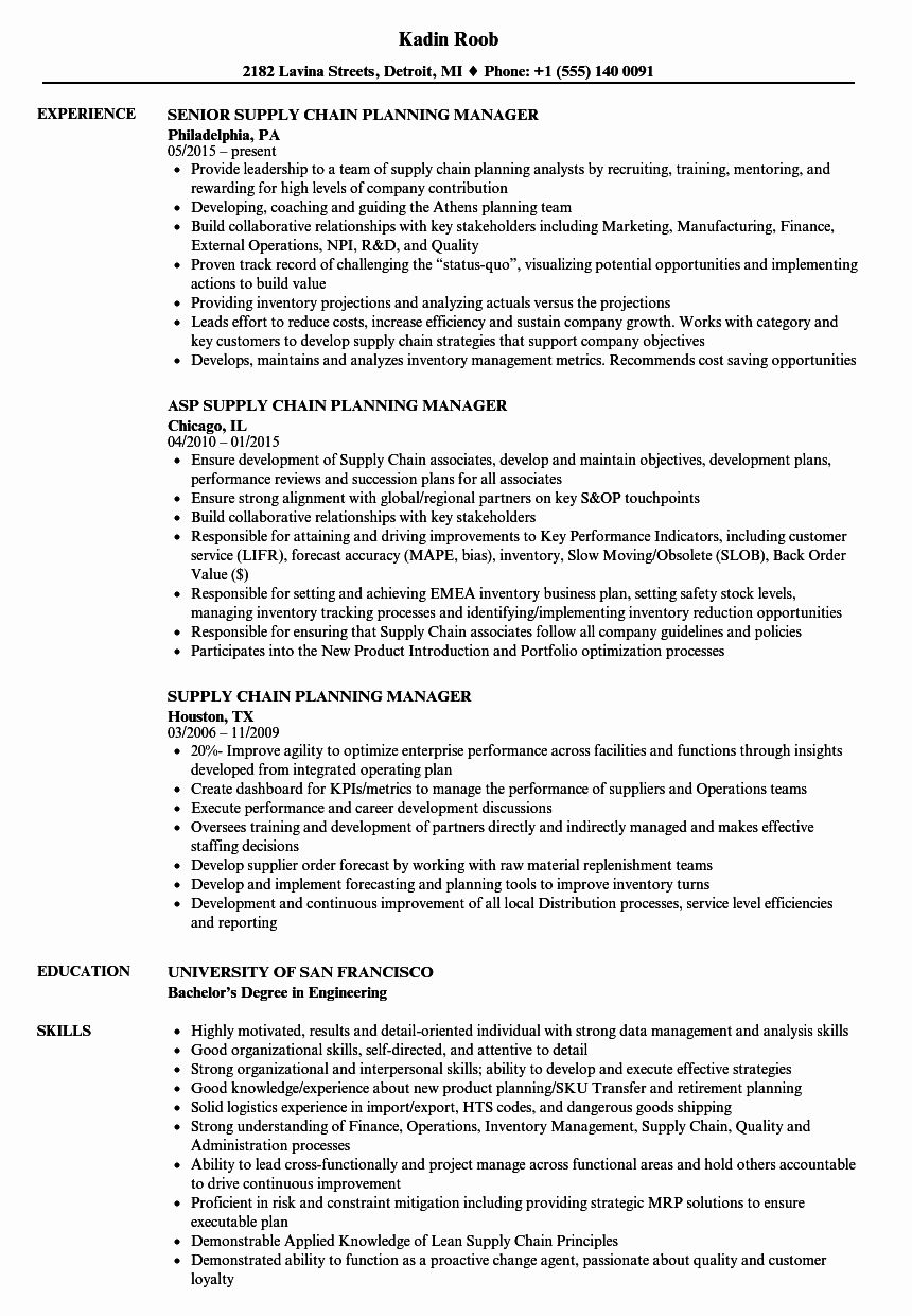23 supply chain resume examples in 2020 project manager
