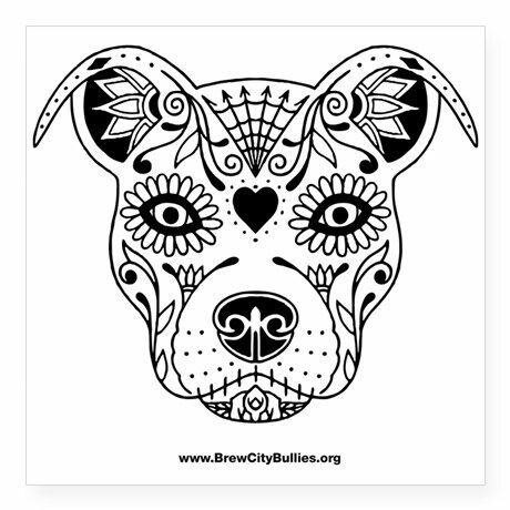 Pitbull Adult Coloring Page