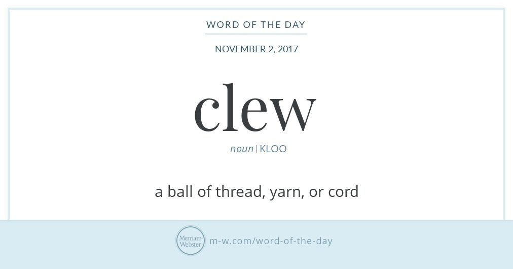 Word Of The Day Clew Writing And Photography Word Of The Day
