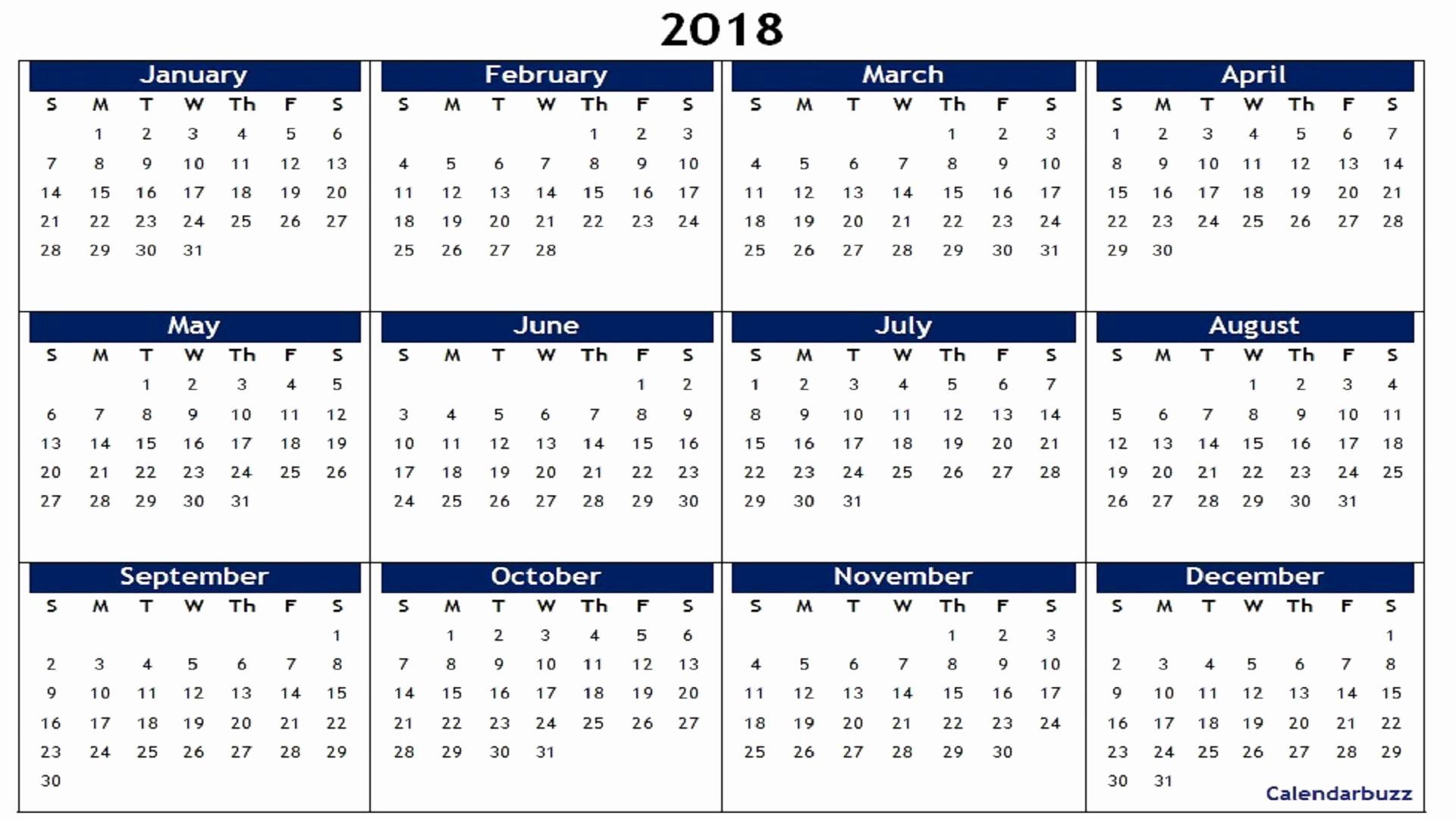 Free Printable Calendar 2018 In 2020 Calendar Printables Printable Calendar Design Weekly Calendar Template