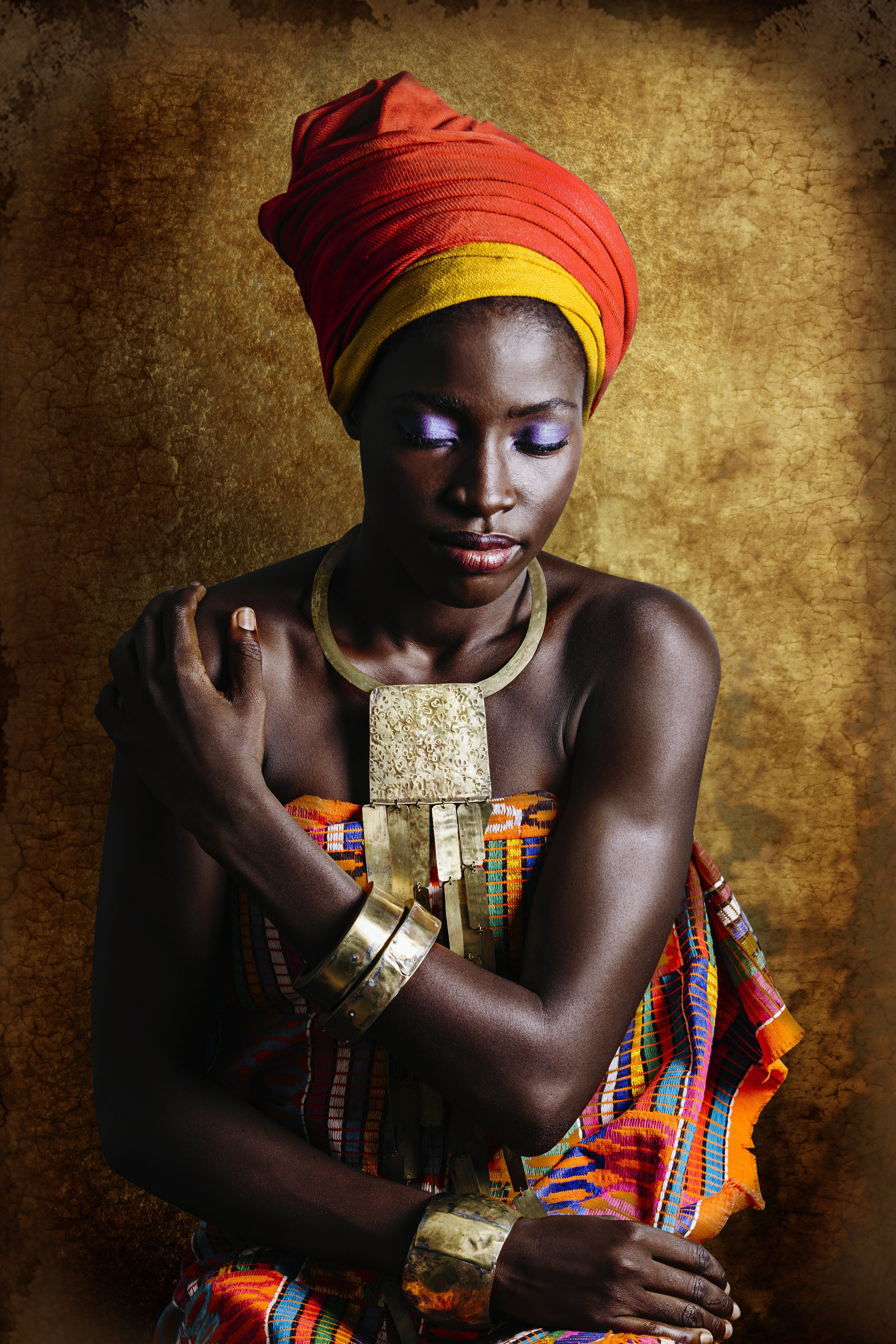 Handmedown African women in their grandmothers' clothes   in pictures is part of Clothes Photography Articles - Joana Choumali's portraits show modern African women swapping jeans for kente cloth   and diving into the dazzling cultural heritage of their families