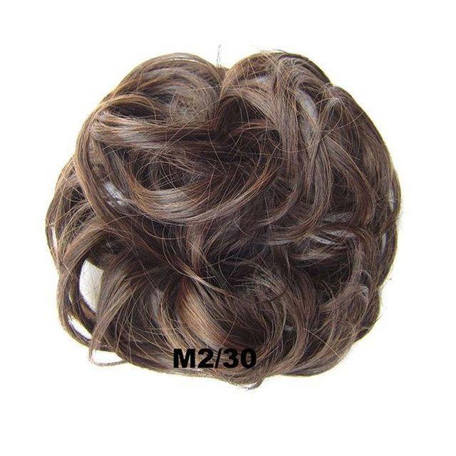 30g Hair Bun Pad Chignon Elastic Hair Rope Rubber Band Hair