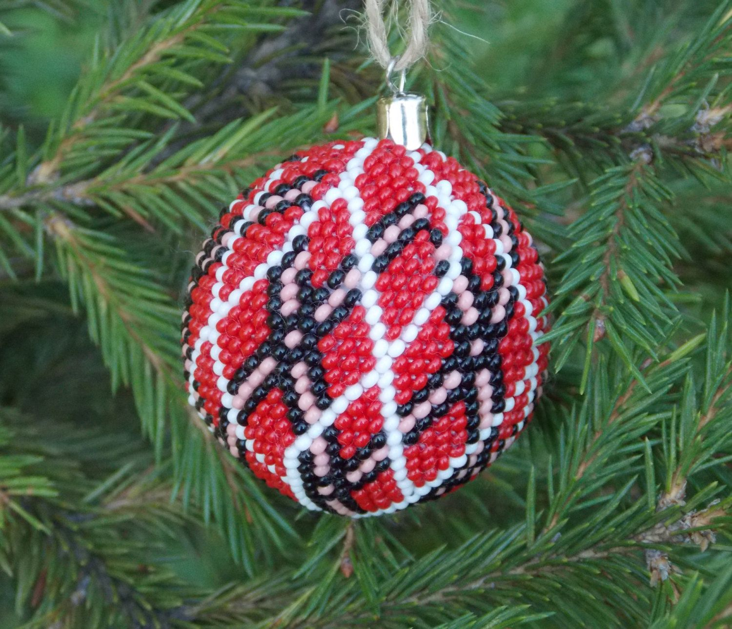 Christmas ball ornament red tree classic handmade baubles decoration