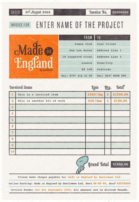 invoice template design - Recherche Google DEVIS Pinterest - free invoice design