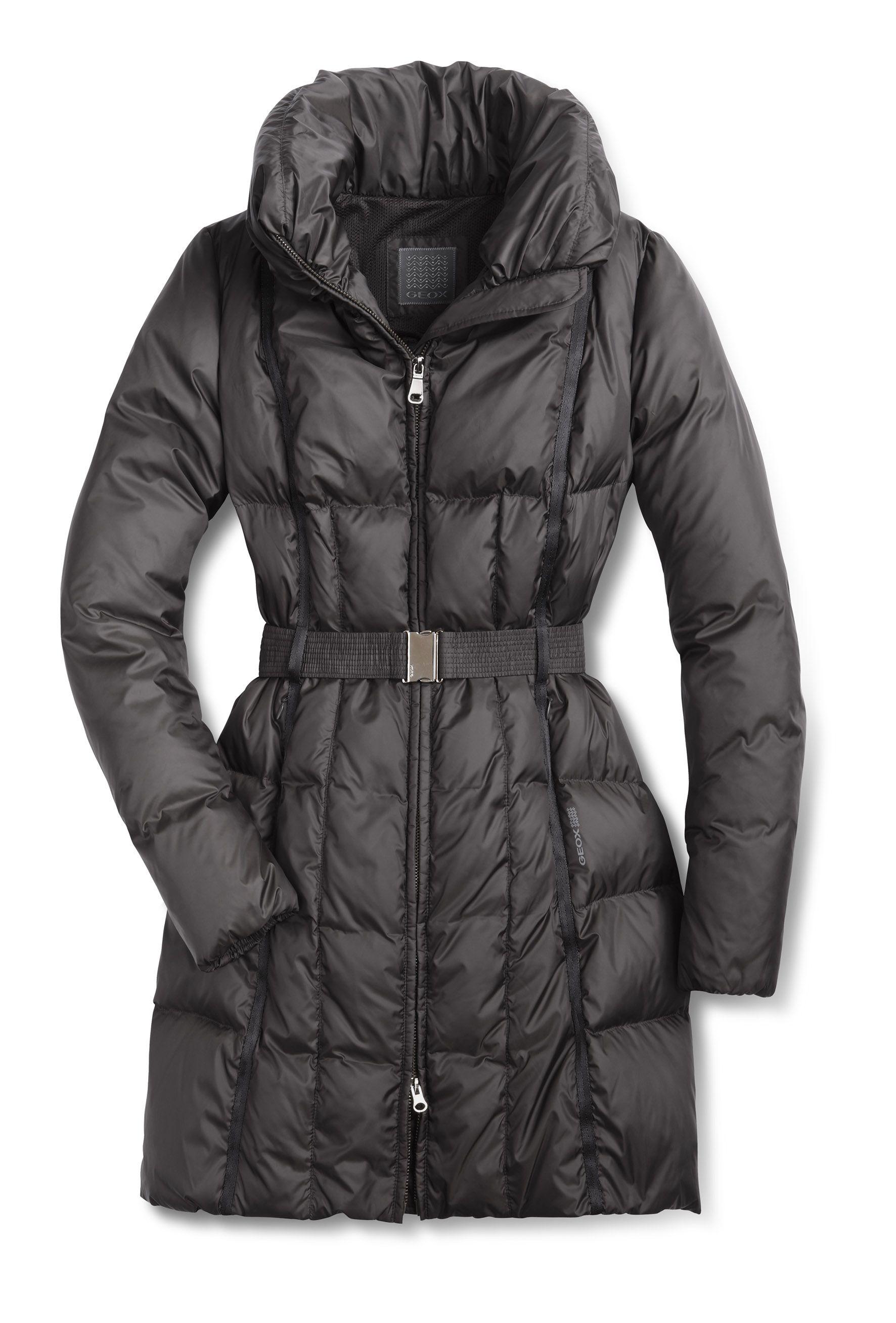a1c8f366a3 GEOX Woman Long Coat | Fashion | Winter coats women, Jackets for ...