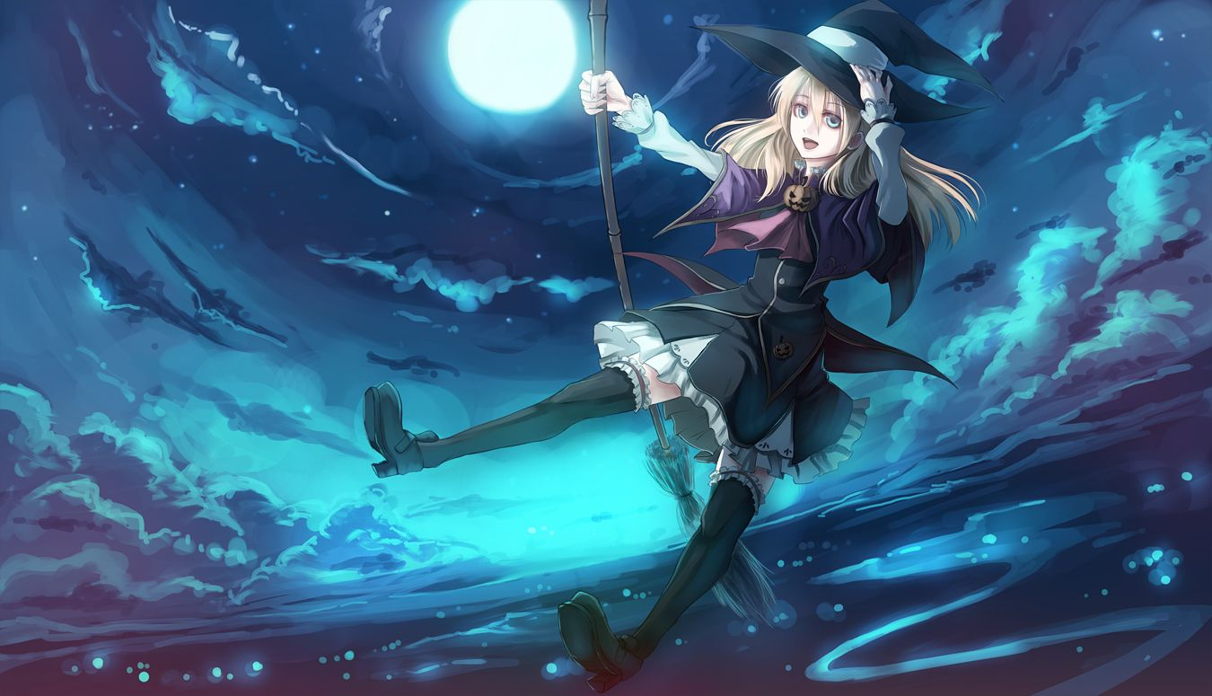 Pin By Joy On Anime Halloween Anime Witch Witch Wallpaper Anime Halloween anime wallpaper hd