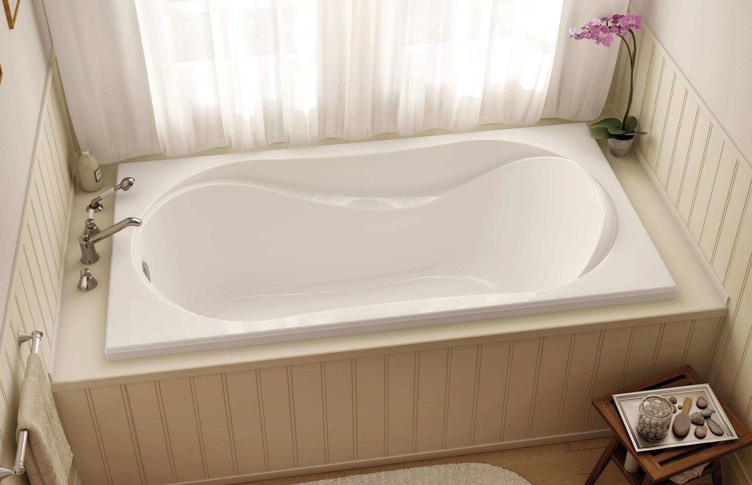 unique-kohler-whirlpool-tubs-with-graff-faucets-and-wainscoting ...