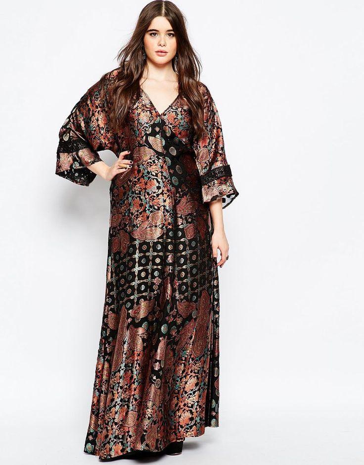 12c181df0bb Plus Size Kimono Maxi Dress