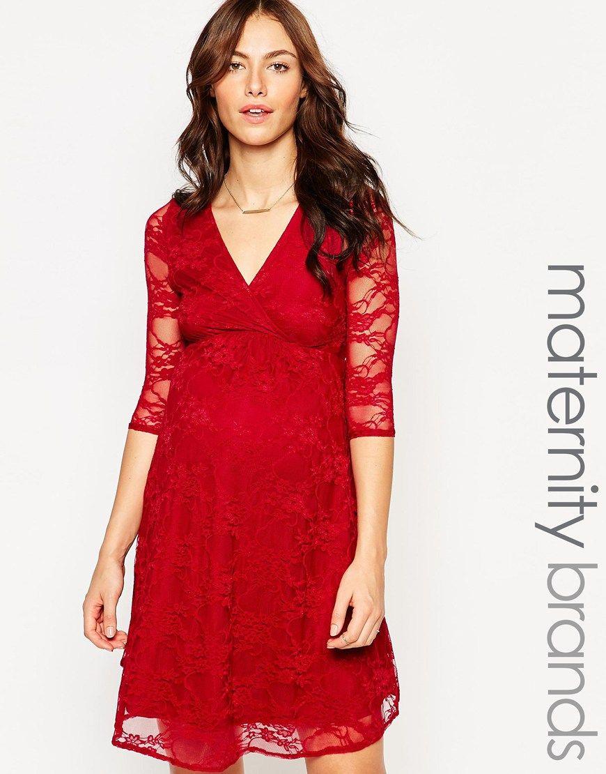 Kate Thomas Lace Wrap Front Maternity Dress