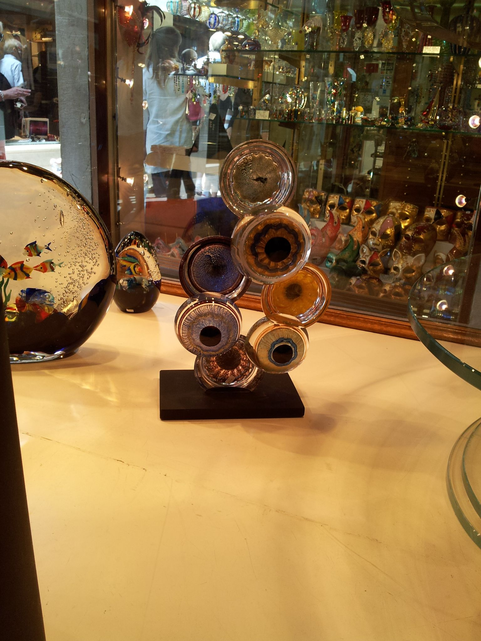 Pictures from our Murano Vitrum shops in Venice: June 2012