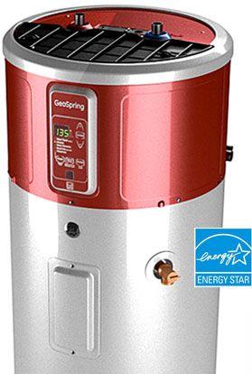 Geospring Hero Ecorebate Featured Jpg 279 414 Electric Water Heater Hybrid Water Heaters Heat Pump Water Heater