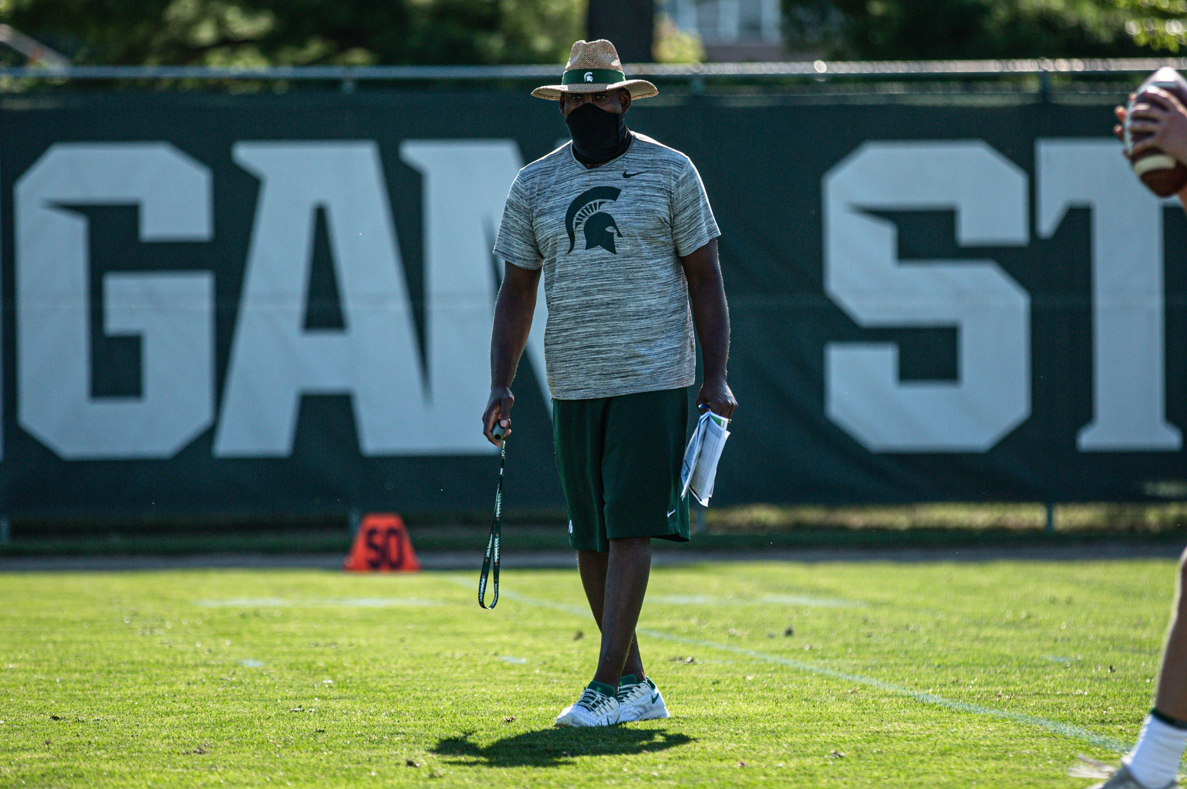 Michigan State Football Coach Mel Tucker Opens Camp With Focus On Rep Chart In 2020 Michigan State Football Football Coach Michigan Sports
