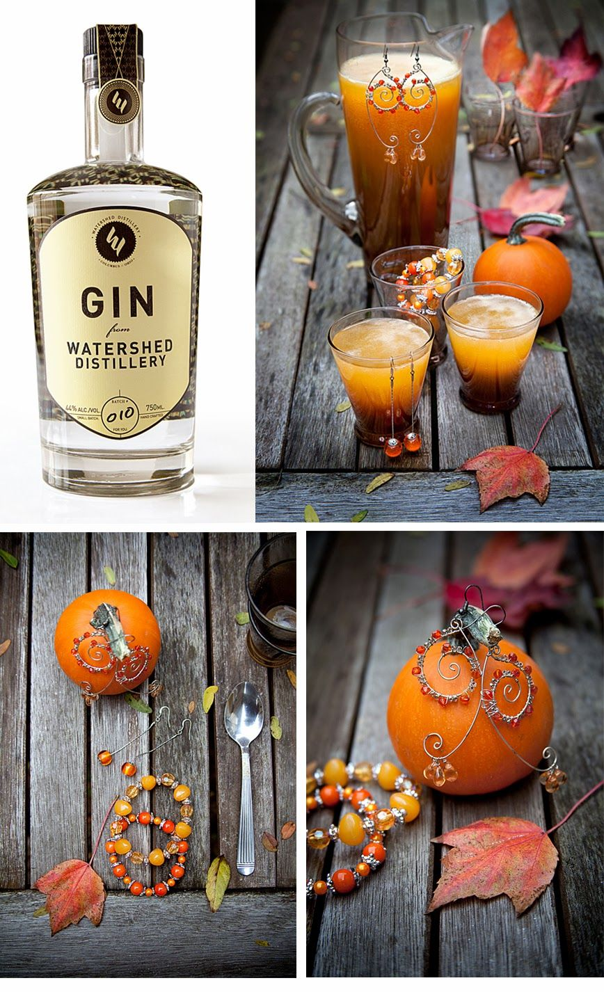Halloween Party Cocktail Ideas Part - 37: Watershed Gin Pumpkin Drop Halloween Party Cocktails And Mocktails.  Columbus Cocktail Couture Series