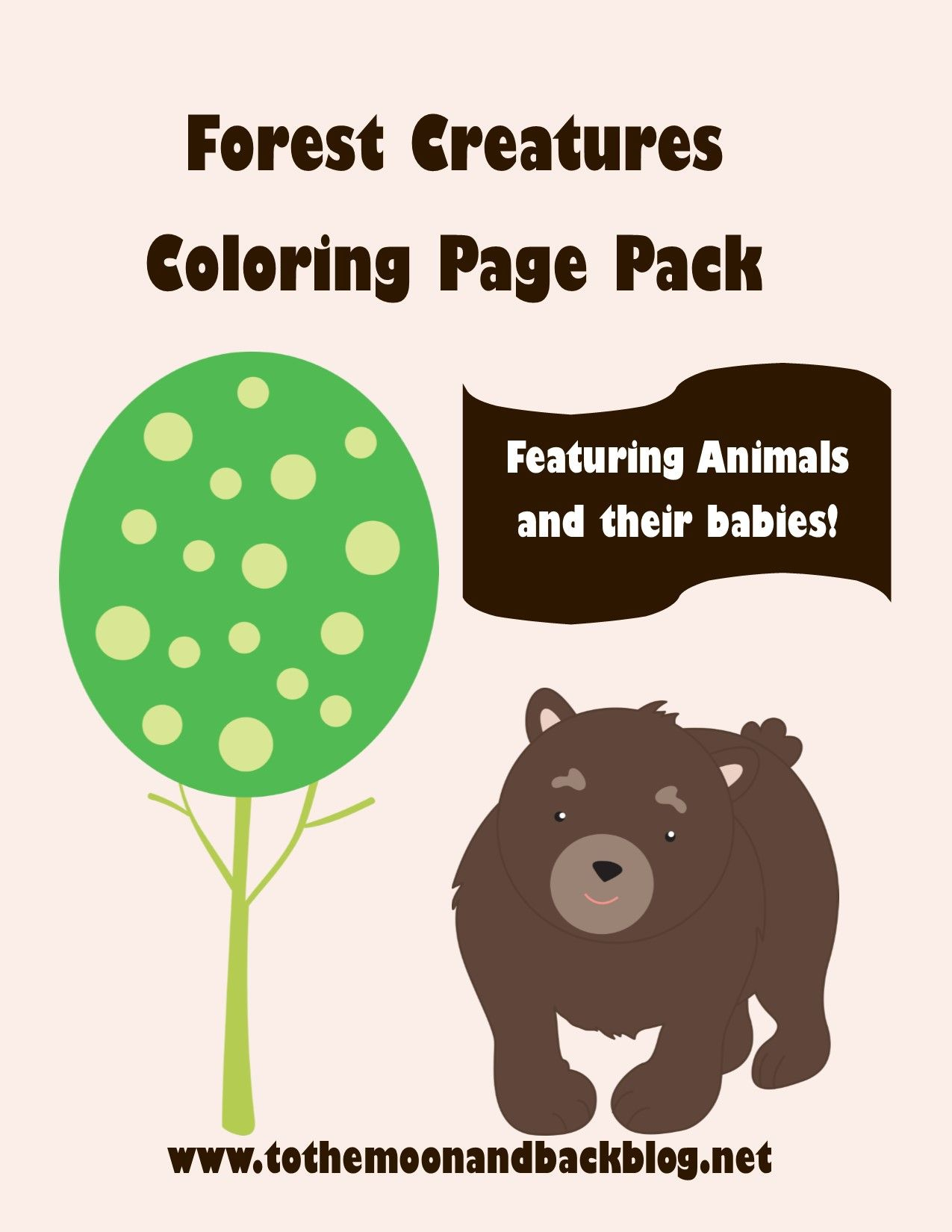 Free Forest Animals Coloring Pages Merous Free