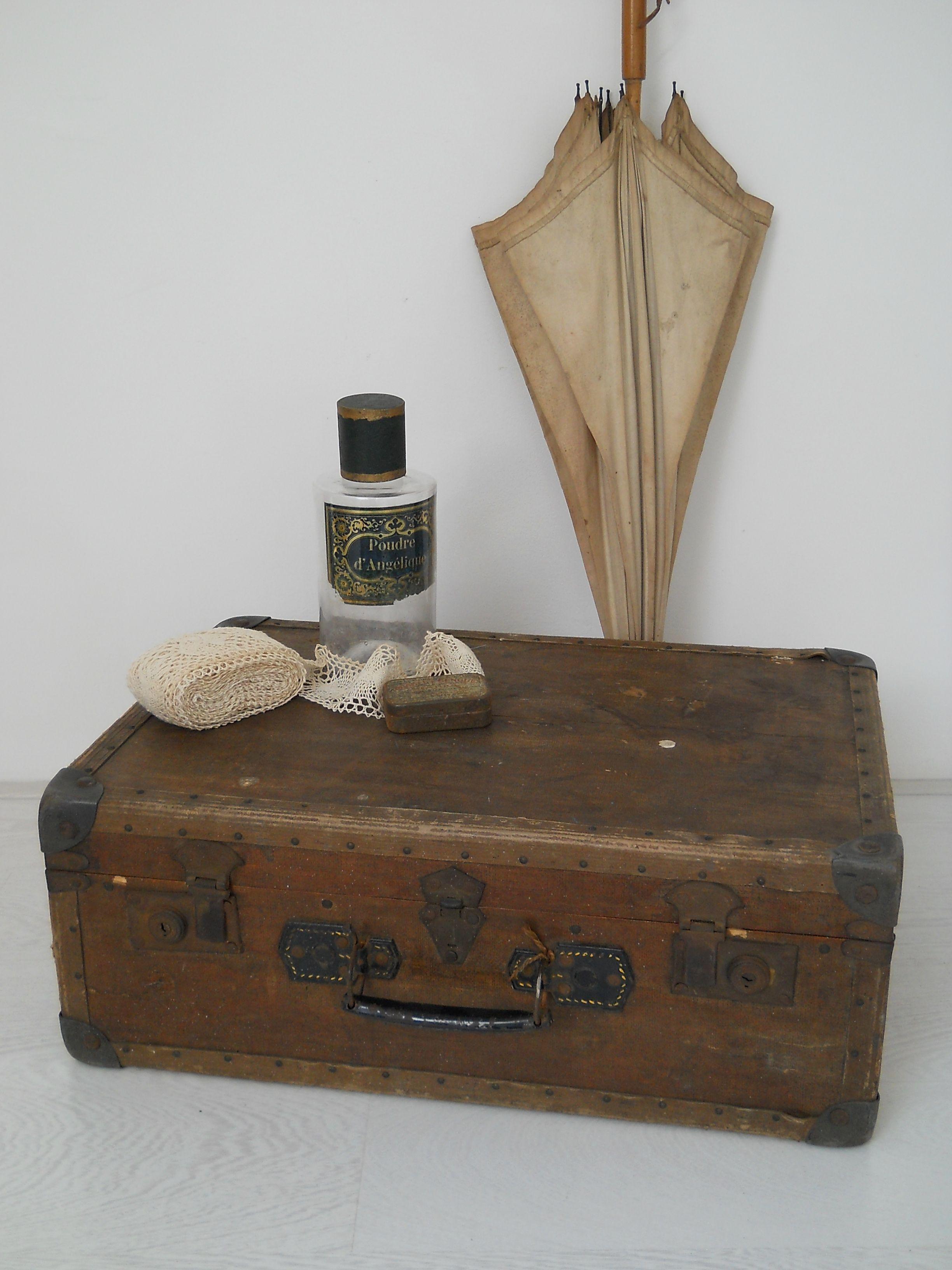 47067f6459e Brocante koffer bruin | Brocante manden, koffers en kisten - Storage ...
