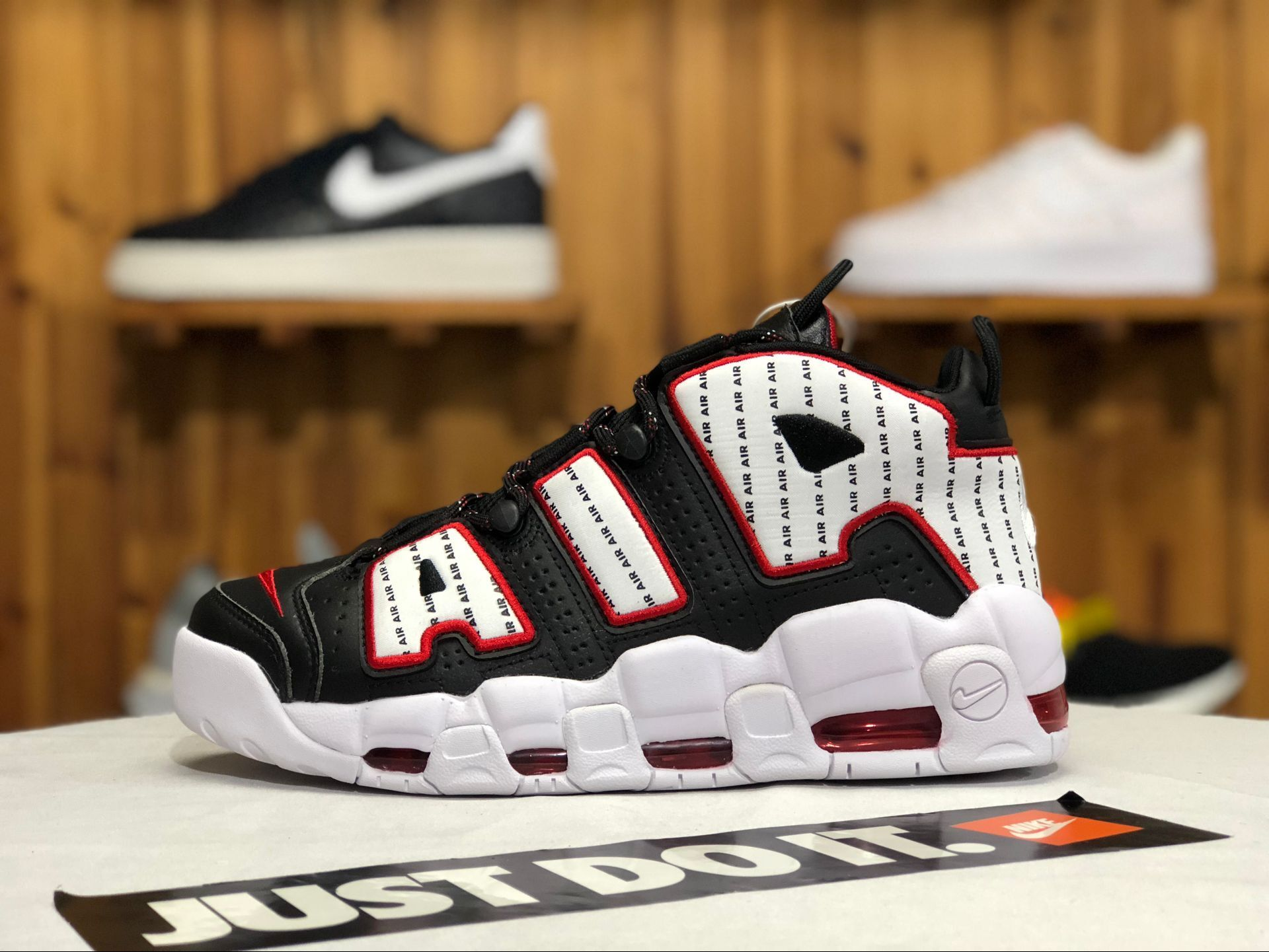 New Arrivals Nike Air More Uptempo 96 Pinstripe Black White