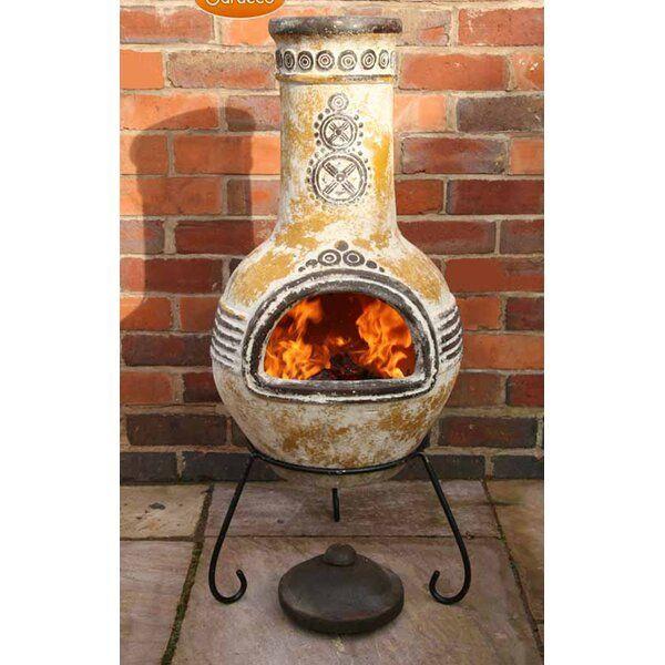 Crossweave Steel Wood Burning Fire Pit Chiminea Propane Fire