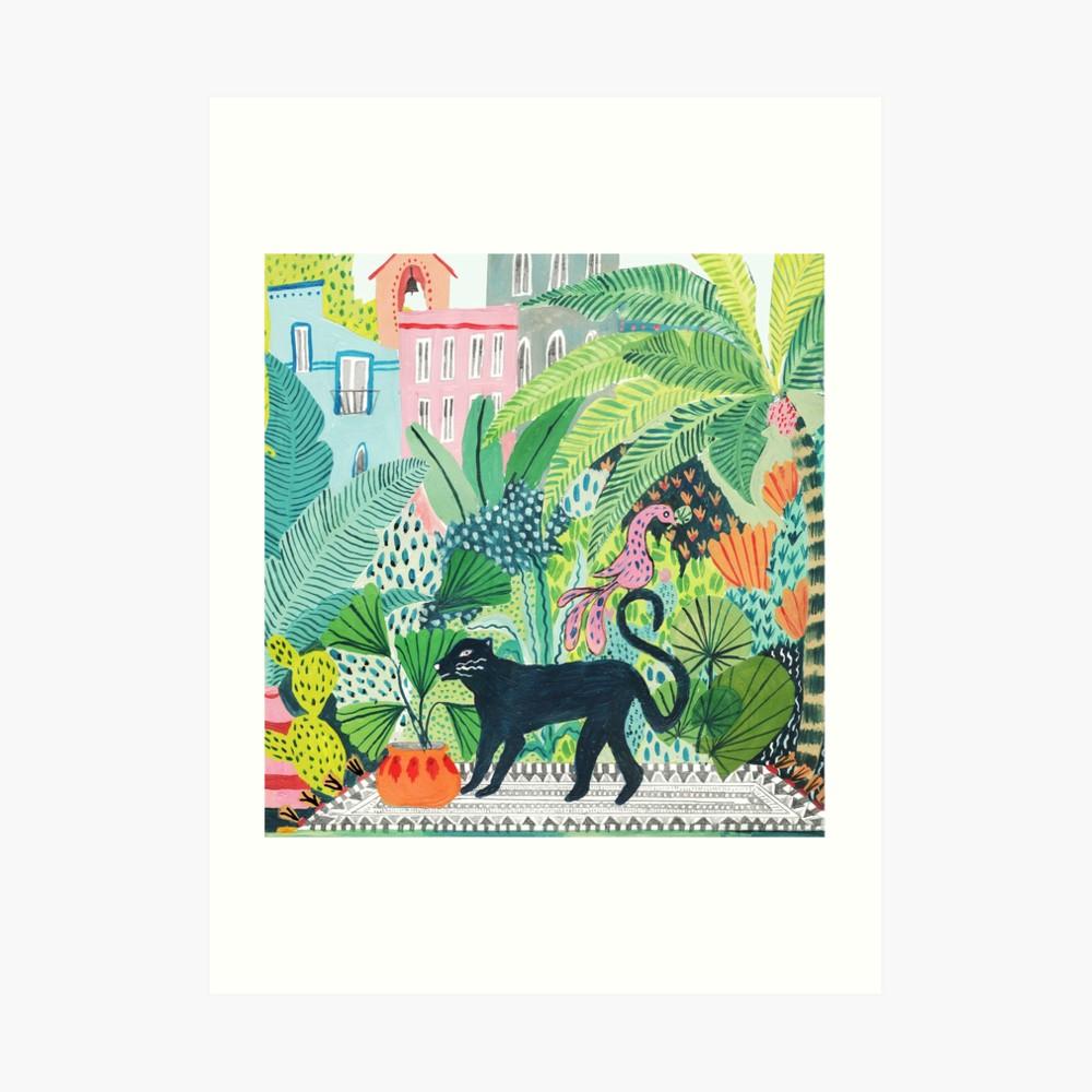 Jaguar Growling Panther Canvas Art Print By: 'Jungle Panther ' Art Print By Amber Davenport