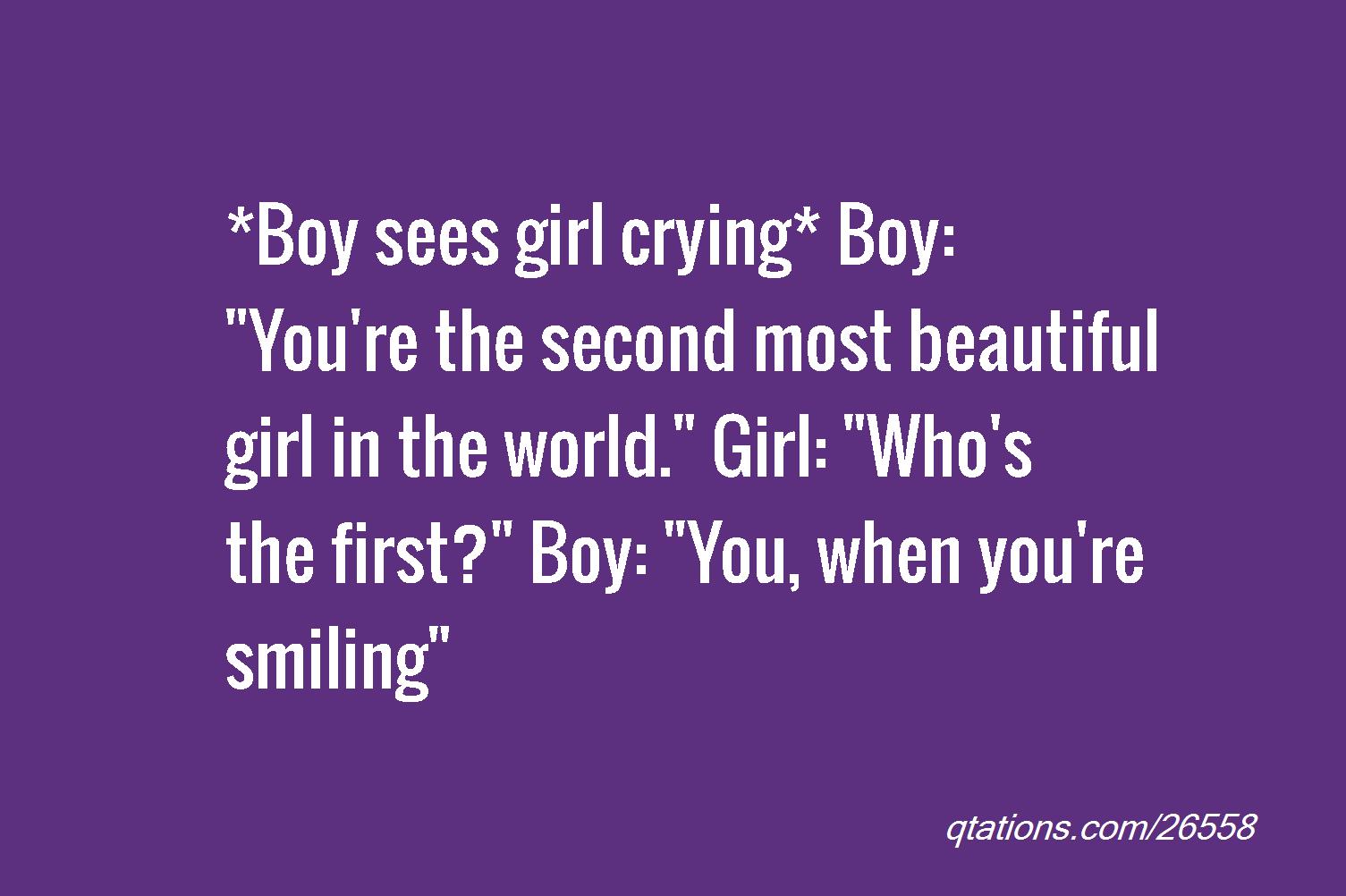 you are pretty girl