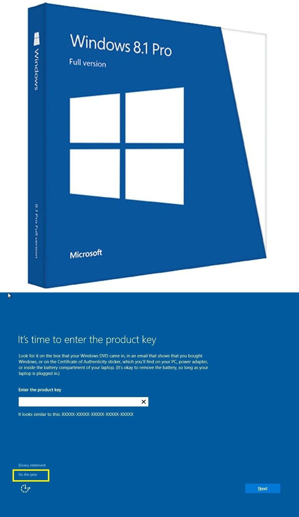 windows 8.1 pro 64 bit product key for activation