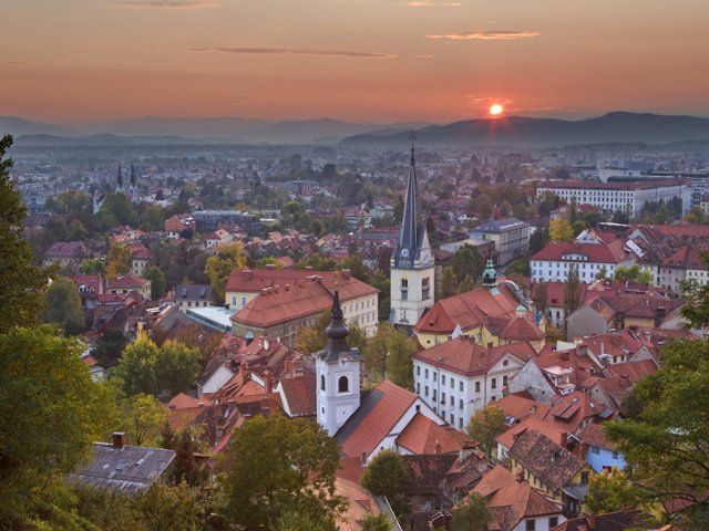 Ljubljana at Sunset, Slovenia
