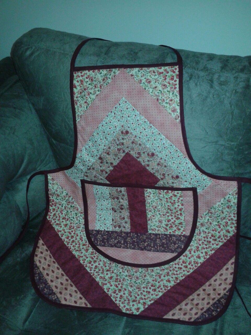 Avental de patchwork