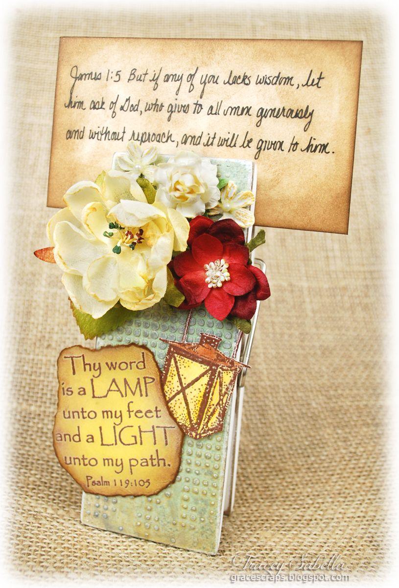 Scripture Card Holder Featuring Helmar Decoupage & Craft Paste - Helmar Design Team - Tracey