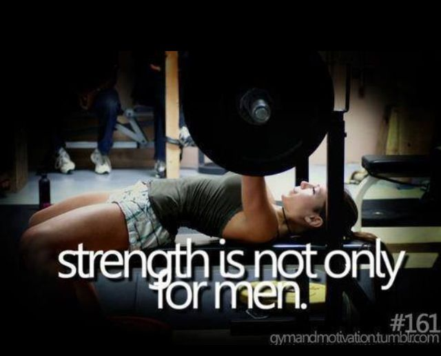 Women should be encouraged to start strength training! Weightlifting shouldnt be just for men. Improving your bench press will carry over into many other sports.