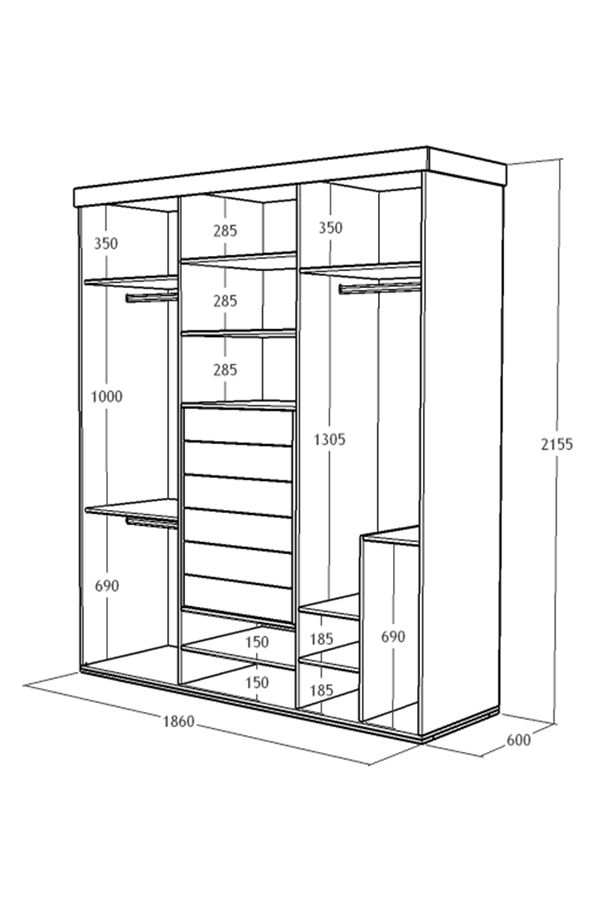 Medidas de closet básico 216x186x60 cm hazlo tu mismo DIY facil para hacer tu propio ropero #melamina o armario con estos #planosgratis