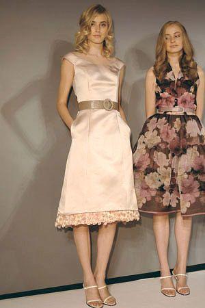 Dress on left Bill Blass