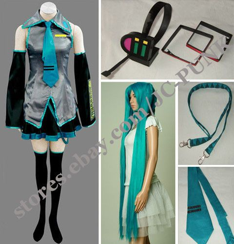 Vocaloid Hatsune Miku Cosplay Costume Full Set Hot sale