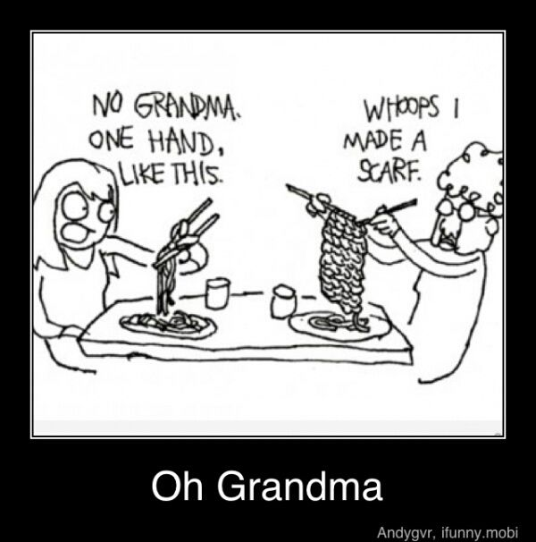 It's funny even if you're not Asian.  ;)  Oh, Grandma!