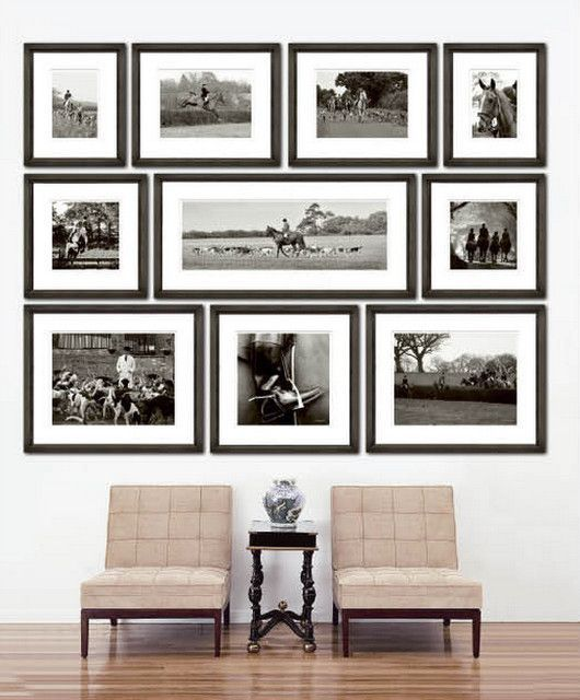 04 black frame modern gallery wall - Shelterness