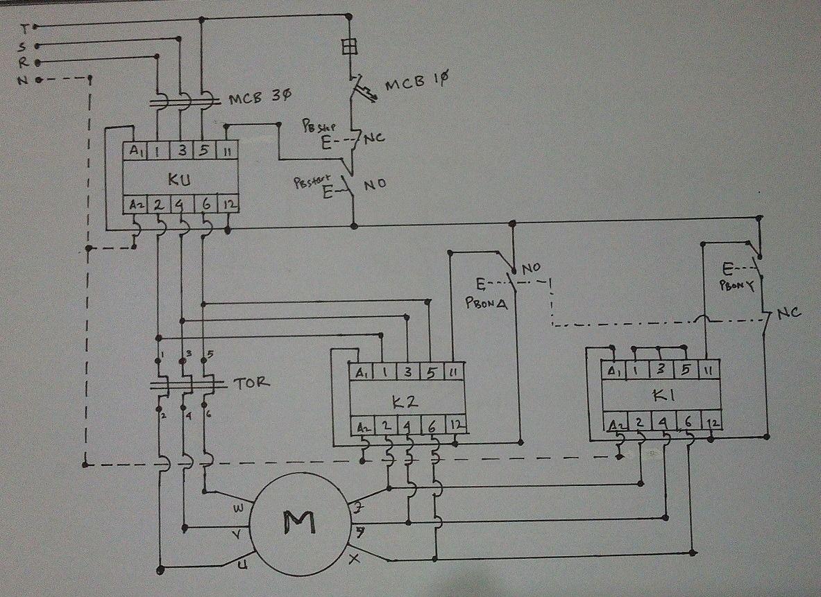 Star Delta Control Panel Wiring Diagram Power Pole Starter With Wiringdiagram Org