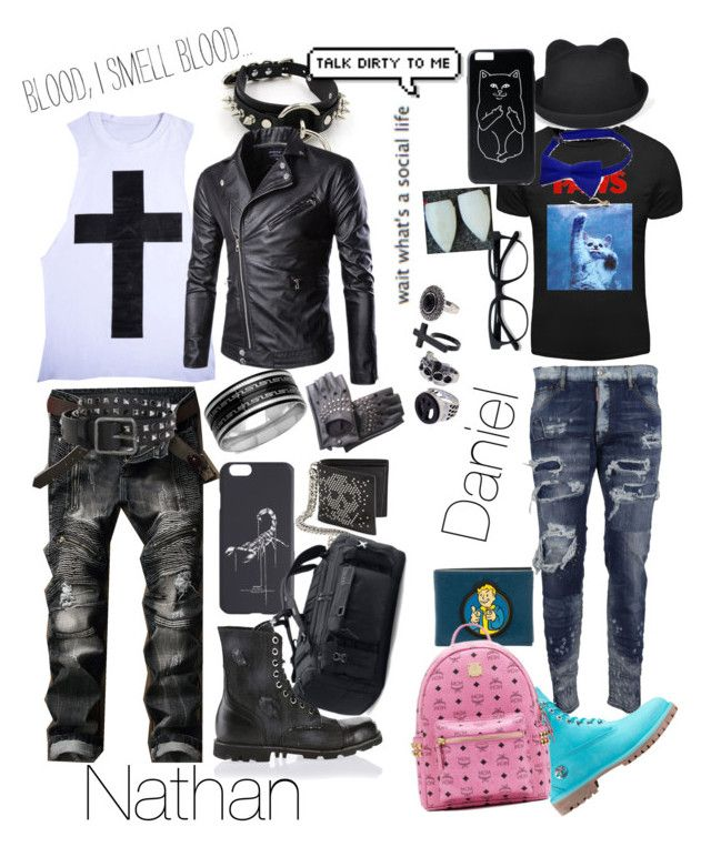 """""""My OCs"""" by imortalsnail ❤ liked on Polyvore featuring Dsquared2, SteelTime, Off-White, Diesel, Alexander McQueen, MCM, Under Armour, men's fashion and menswear"""