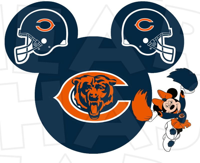 chicago bears football with minnie mouse instant download digital rh pinterest com