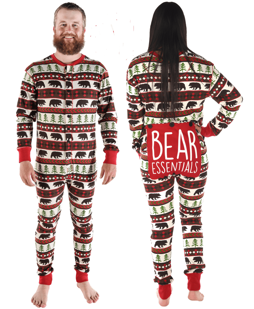 Lazy One Adult Unisex Bear Essentials FlapJack Christmas
