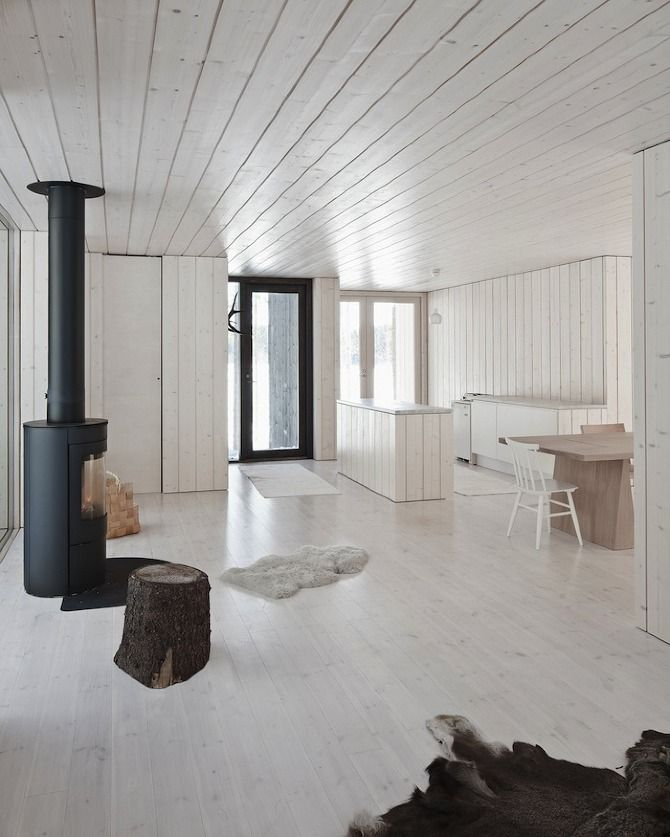 Four cornered Cabin in Finland by Avanto Architects