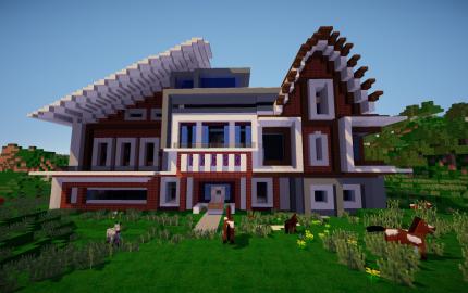 Modern House Creation 2336 Minecraft Barn Minecraft Construction Minecraft House Designs