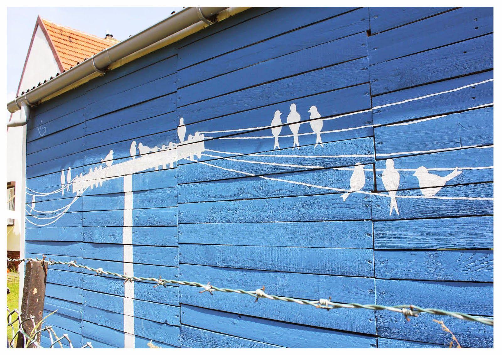 Haus, Schuppen, blau, bemalt, Gartenschuppen, Gartenhaus   Meine ...